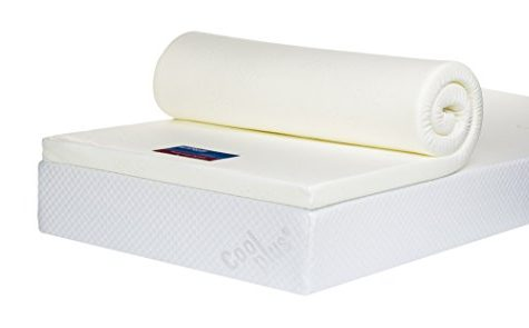 Bodymould Memory Foam Mattress Topper with Cover, 2 inch - European Double 1