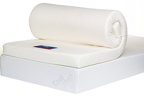 Bodymould Memory Foam Mattress Topper with Cover, 4 inch - UK King 1