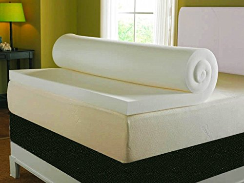 Visco Therapy Mattress Topper with Cover, 7 cm (3 Inch) Deep Memory Foam, 135 x 190 cm, Double 1