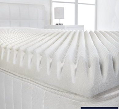 "Littens - 3"" Extra Deep 4ft Small Double Bed Size Memory Foam Mattress Topper (Profile / Egg Shell) 75mm, 120cm x 190cm 5"