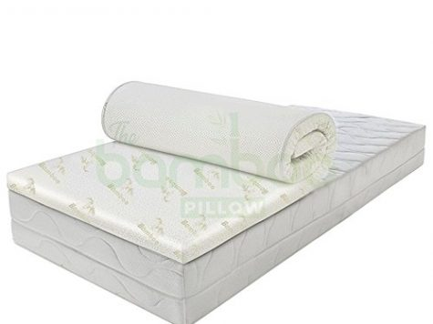 Bamboo Memory Foam Mattress Topper for King Size Bed, Orthopaedic Anti Allergy Microfibers Mattress Protector for a Deep Sleep, Hypoallergenic, 4 cm Thick 6