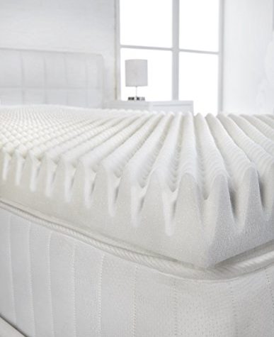 "Littens - 2"" Single Size Memory Foam Mattress Topper (Profile/Egg Shell) 50mm 1"
