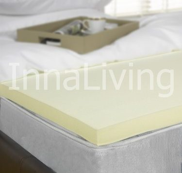"InnaLiving 2"" Double Memory Foam Mattress Topper - UK Manufactured 50mm 9"