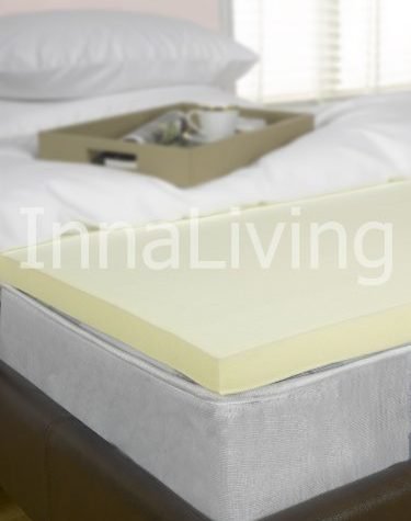 "InnaLiving 2"" Superking Bed Size Memory Foam Mattress Topper - UK Manufactured 50mm 6ft 10"