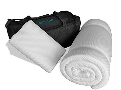 Prima Comfort Travel Memory Foam Mattress Topper plus Pillow - The Hamilton -7 DAY MONEY BACK GUARANTEE!!! includes Memory Foam Travel Pillow and holdall bag! (Mattress 190cm x 70cm x 3.5cm) 5