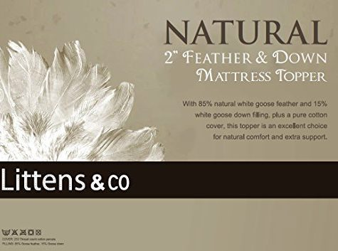Innaliving Superking Bed - Goose Feather & Down Mattress Topper / Overlay by Littens 10