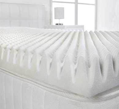 "Littens - 2"" Deep 4ft Small Double Bed Size Memory Foam Mattress Topper (Profile / Egg Shell) 50mm, 120cm x 190cm 12"