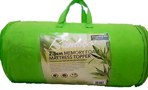 Memory Foam Mattress Topper Bamboo Orthopedic 1, 2 Thick Zip... 2