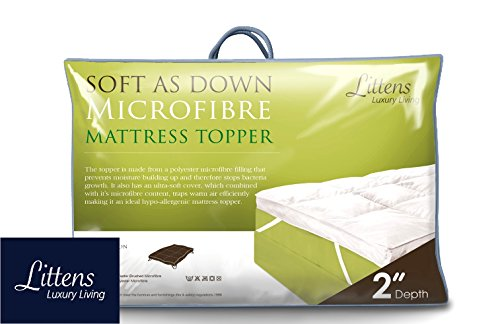 "Littens 2"" Deep Luxury Soft As Down Microfibre Mattress Topp... 7"