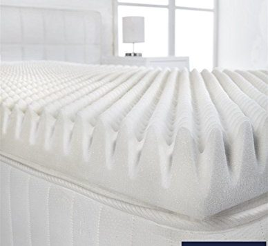 "Littens - 2"" Double Size Memory Foam Mattress Topper (Profile/Egg Shell) 50mm 8"