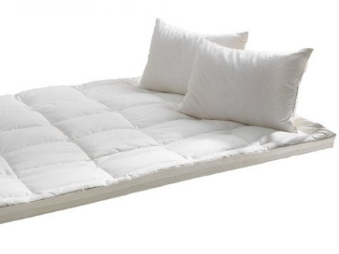 Starry Night Luxury White Goose Feather & Down Mattress Toppers, 100% Cotton Cover, to Fit All Mattress Depths 9
