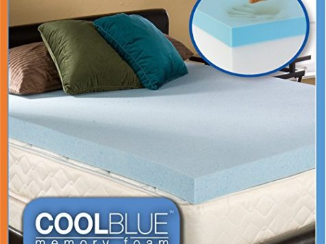 3ft Single 4 inch Cool Blue Hybrid Memory Foam Orthopaedic Mattress Topper 10cm Thick … 9