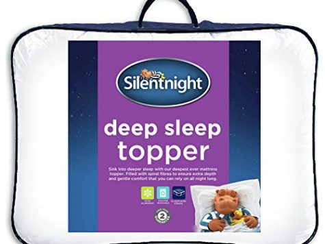 Silentnight Deep Sleep Mattress Topper, White, Single 8
