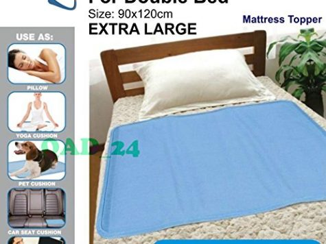 Magic Cooling Gel Blue Cool Pad Mat Orthopedic Mattress Topper Large Pet (Cooling Bed Mat (Double Bed) Extra Large) 7