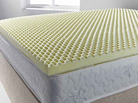 Ultimum egg profiled foam mattress topper - small double 4ft0 6