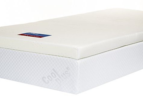 Memory Foam Mattress Topper with Cover, 3 inch - UK Super King 6
