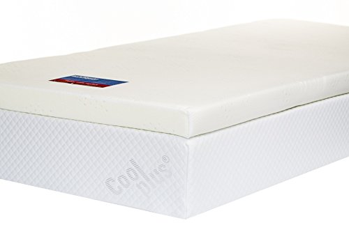 Memory Foam Mattress Topper with Cover, 3 inch - UK Super King 1