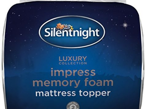 SILENTNIGHT IMPRESS 7CM MEMORY FOAM MATTRESS TOPPER - SUPER KING. 8