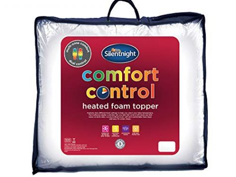 Silentnight Heated Memory Foam Mattress Topper, White, Double 8
