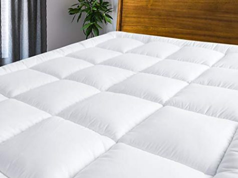 MASVIS quilted mattress topper - hypoallergenic bed topper 9