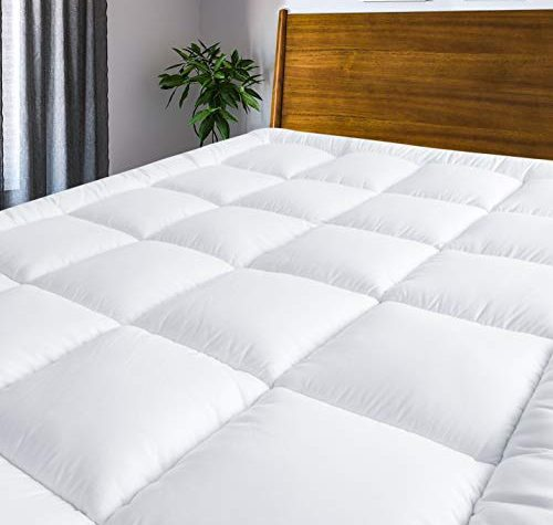 MASVIS quilted mattress topper - hypoallergenic bed topper 1