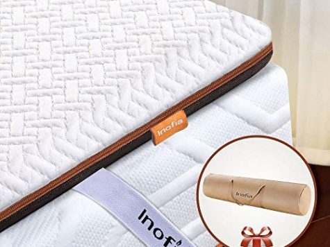 Inofia Memory Foam Mattress Topper with Cover, 6CM 1