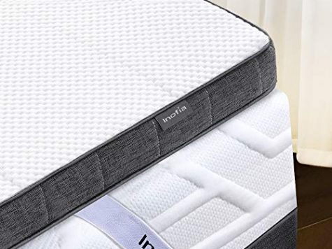"Inofia King Gel Memory Foam Mattress Topper with Cover, 3"" Gelgem Mattress Topper 3"